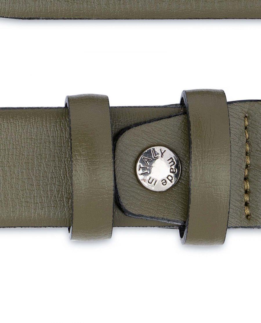 Olive-Green-Leather-Belt-Mens-1-1-8-inch-Screw