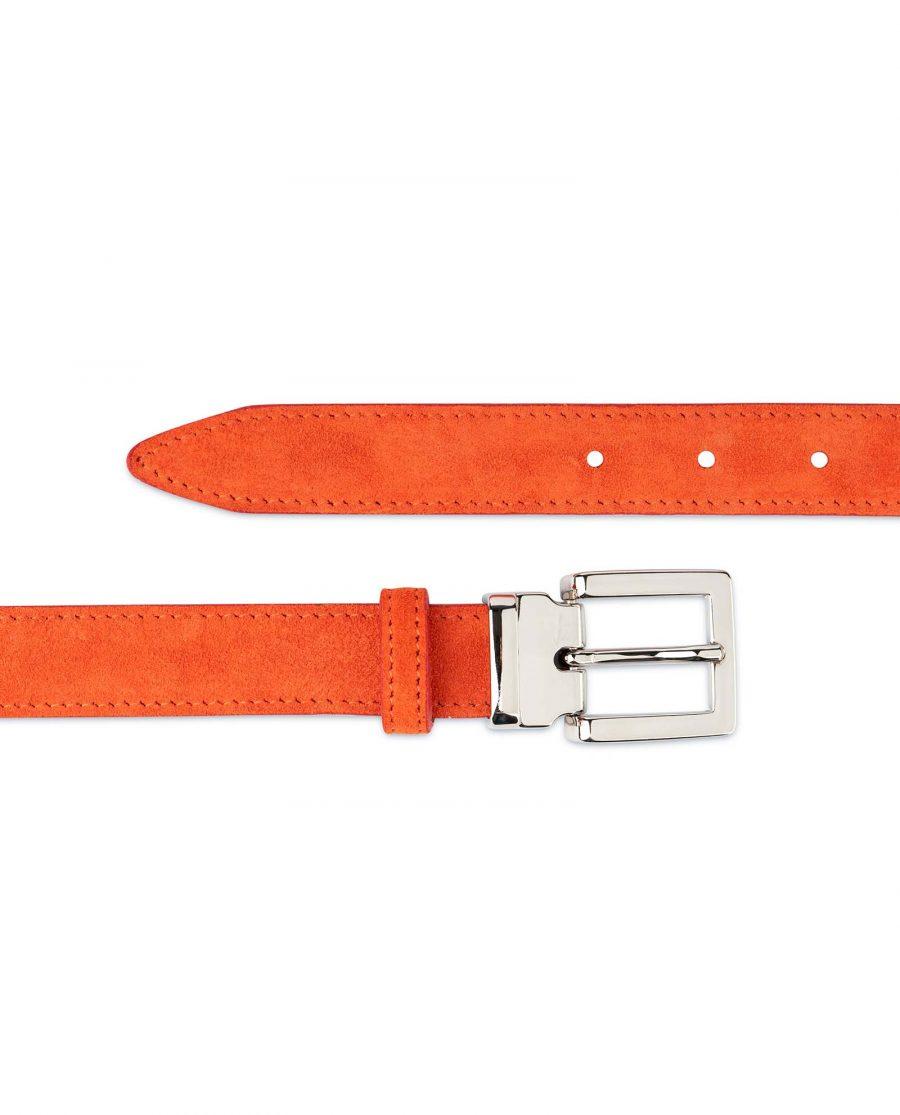Orange-Womens-Belt-Suede-Leather-For-dresses