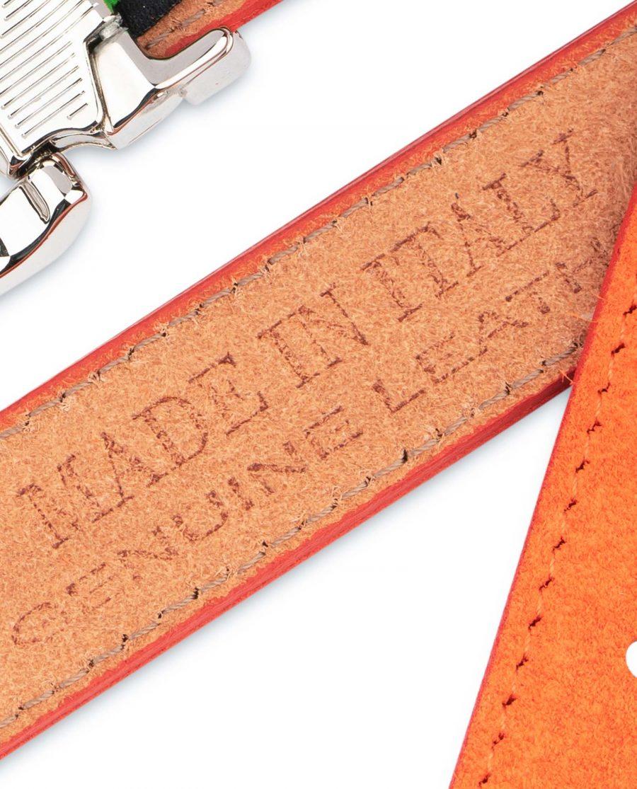 Orange-Womens-Belt-Suede-Leather-Genuine