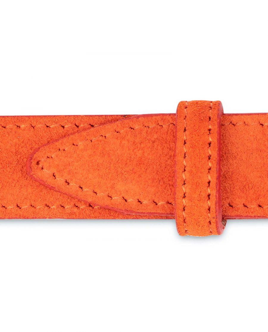 Orange-Womens-Belt-Suede-Leather-Loops