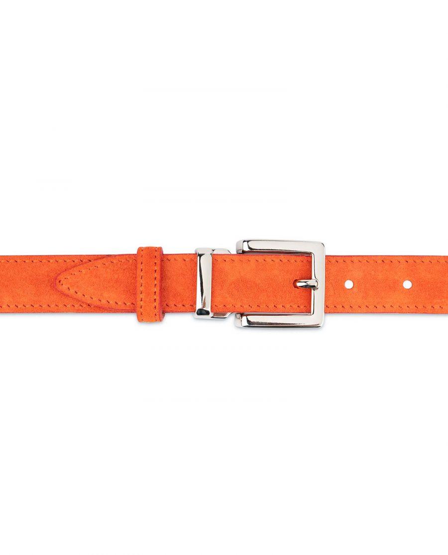 Orange-Womens-Belt-Suede-Leather-On-dress