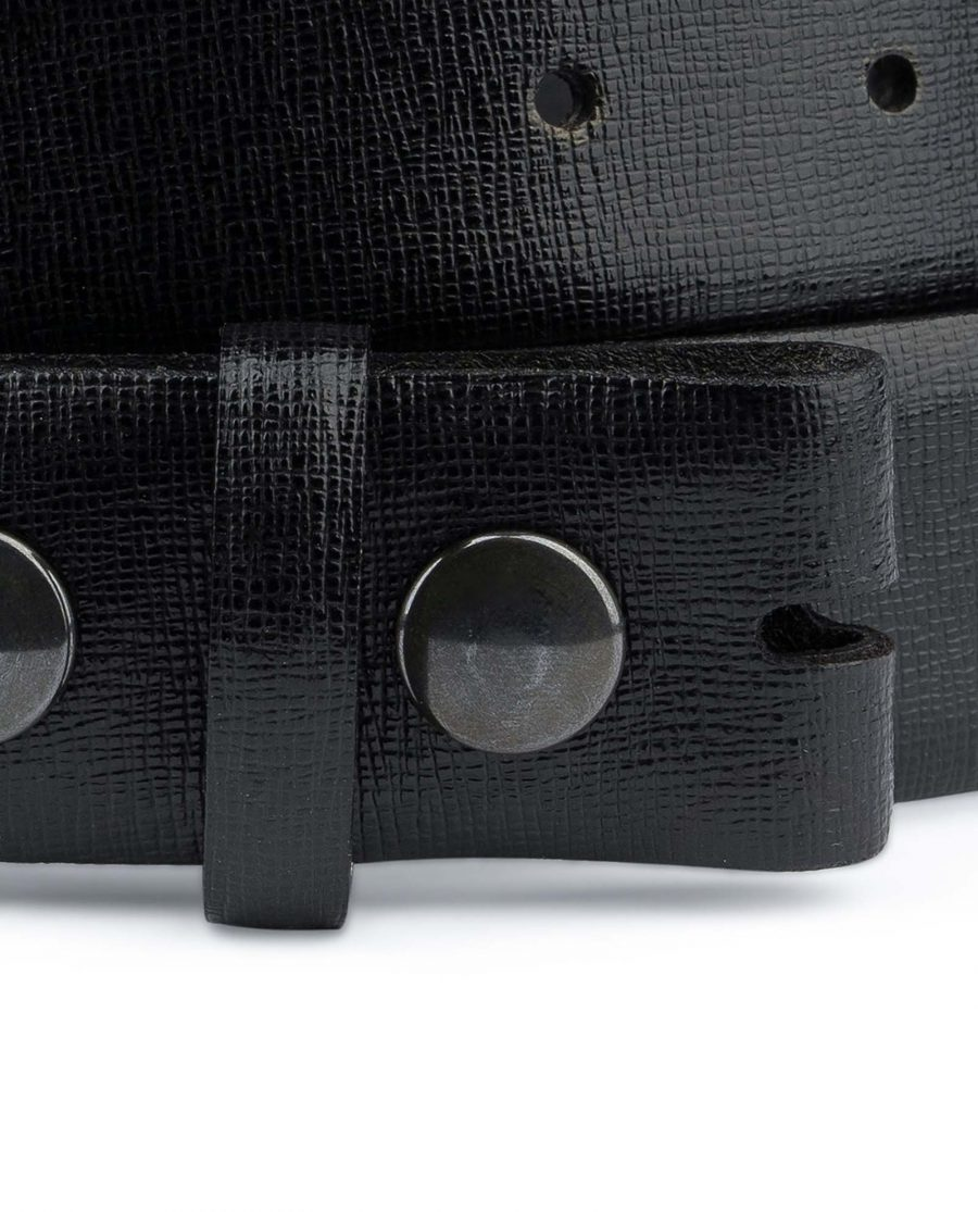 Saffiano-Leather-Belt-Without-Buckle-Snap-on-YKK