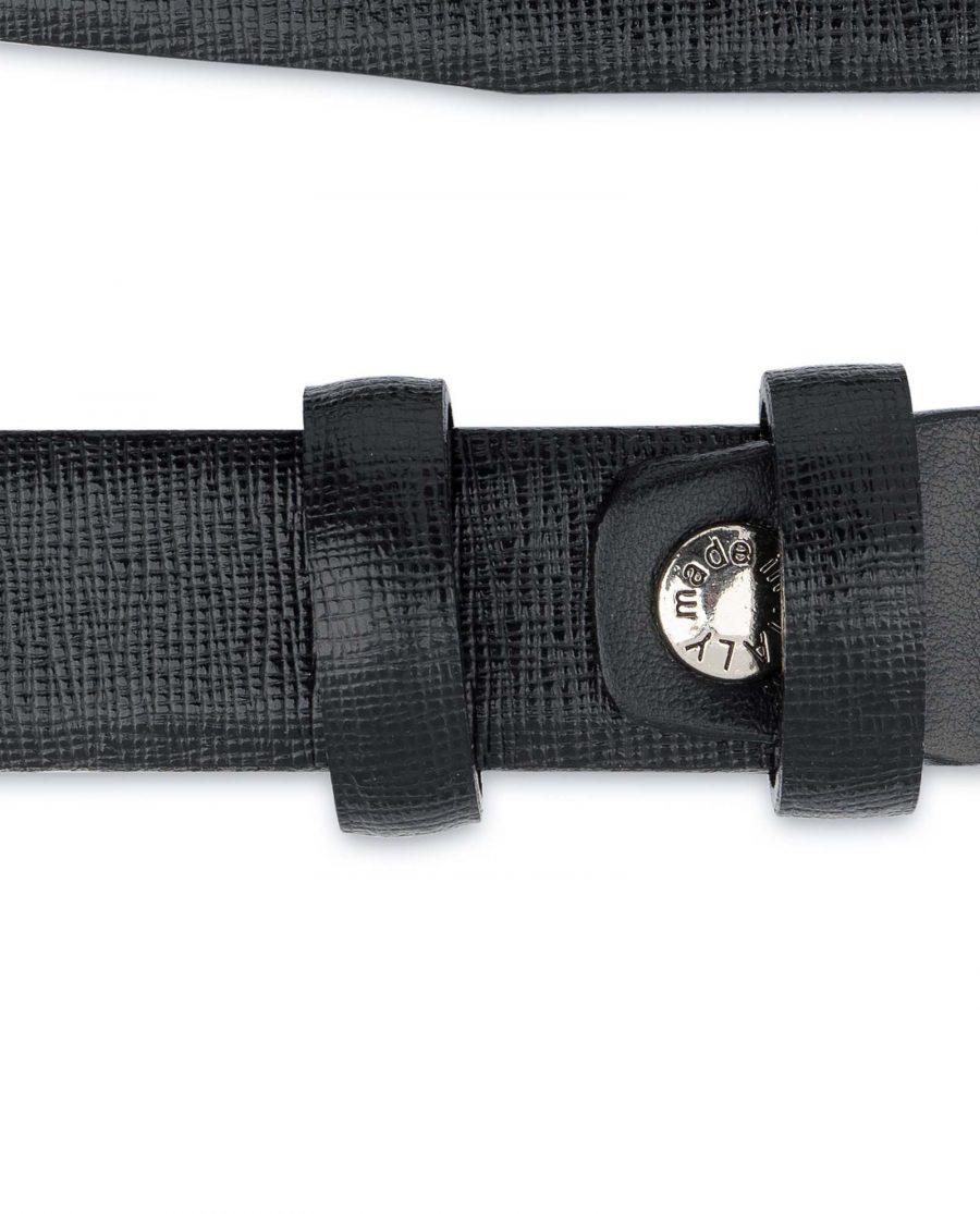 Saffiano-Mens-Black-Leather-Belt-Thin-1-inch-Screw