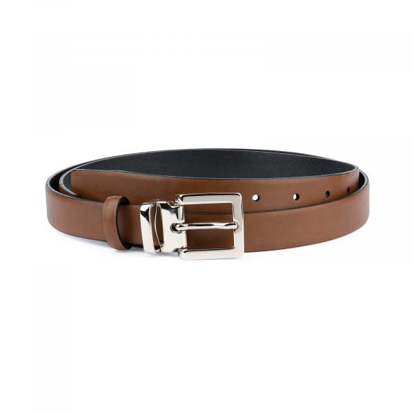 Tan-Leather-Belt-Womens-Italian-Buckle-Capo-Pelle