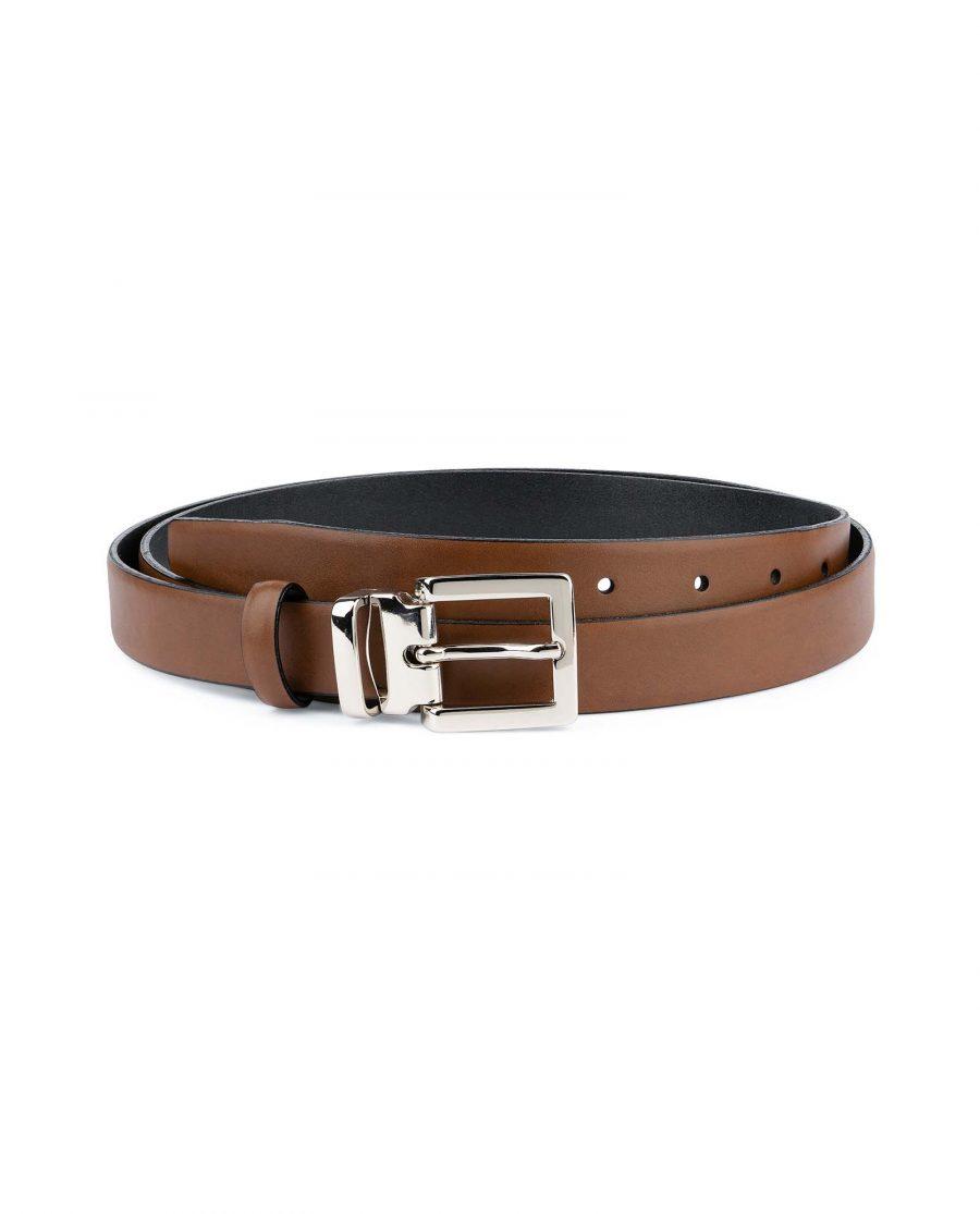 Tan-Leather-Belt-Womens-Italian-Buckle-Capo-Pelle