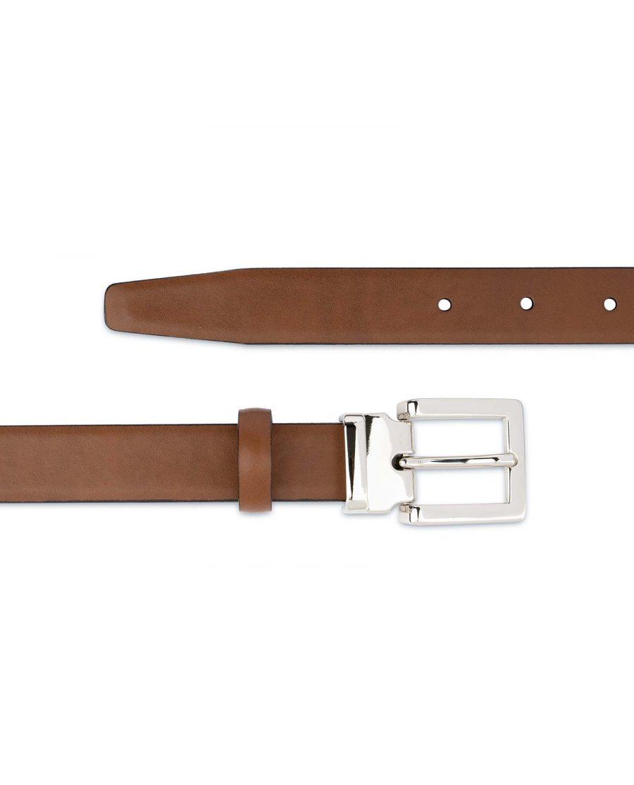 Tan-Leather-Belt-Womens-Italian-Buckle-For-dresses