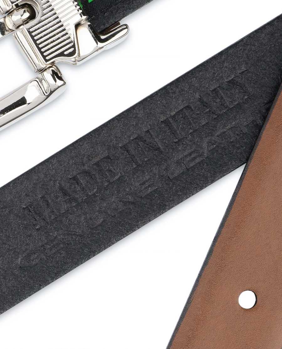 Tan-Leather-Belt-Womens-Italian-Buckle-Genuine