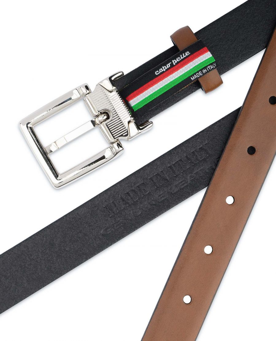 Tan-Leather-Belt-Womens-Italian-Buckle-Made-in-Italy