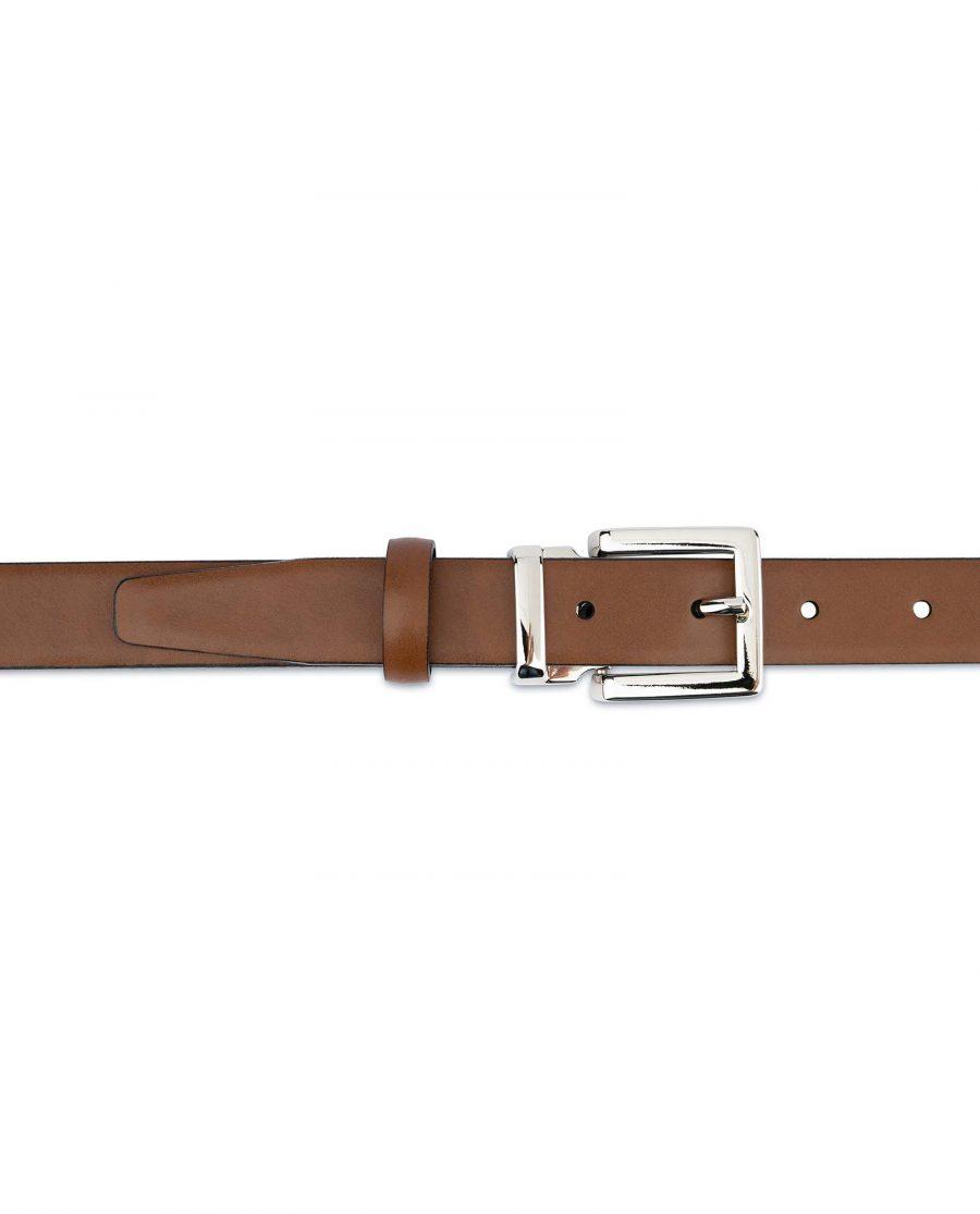 Tan-Leather-Belt-Womens-Italian-Buckle-On-dress