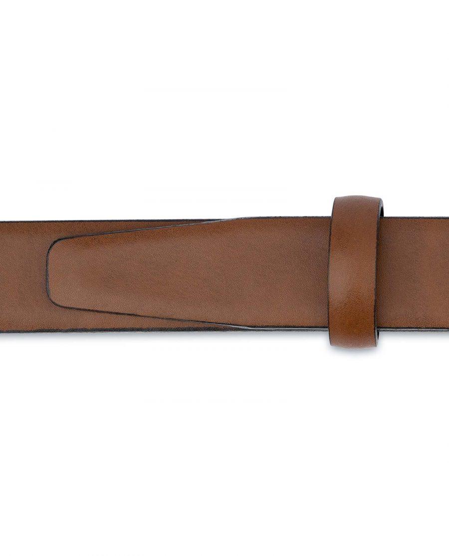Tan-Leather-Belt-Womens-Italian-Buckle-Smooth