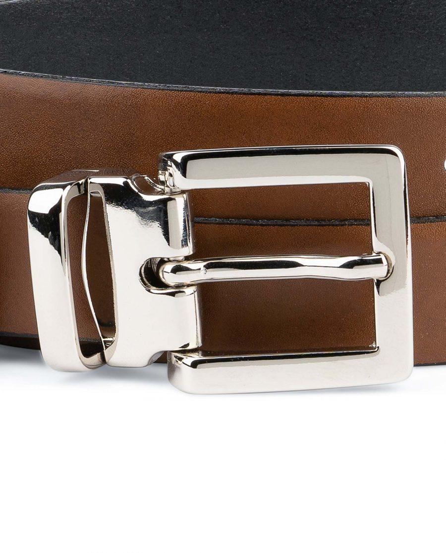 Tan-Leather-Belt-Womens-Italian-Buckle-Square-buckle