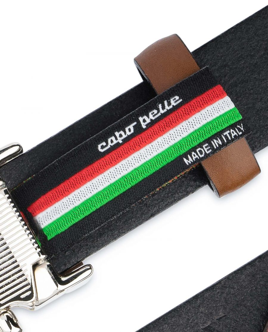 Tan-Leather-Belt-Womens-Italian-Buckle-Woven-tag