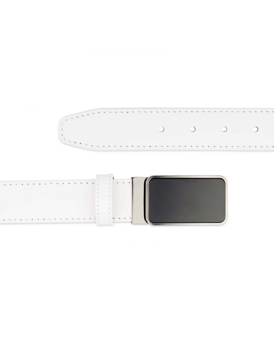 White-Leather-Belt-With-Black-Buckle-Casual