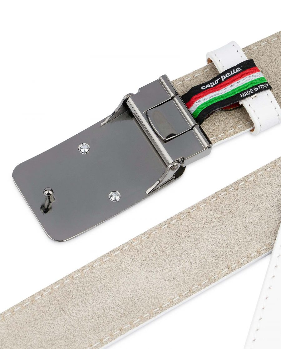 White-Leather-Belt-With-Black-Buckle-Gunmetal-buckle
