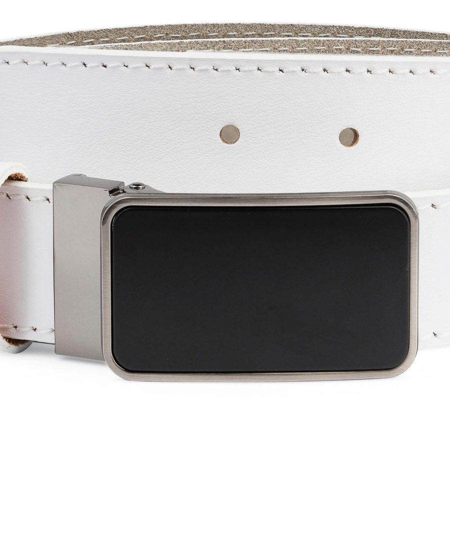 White-Leather-Belt-With-Black-Buckle-Rectangle