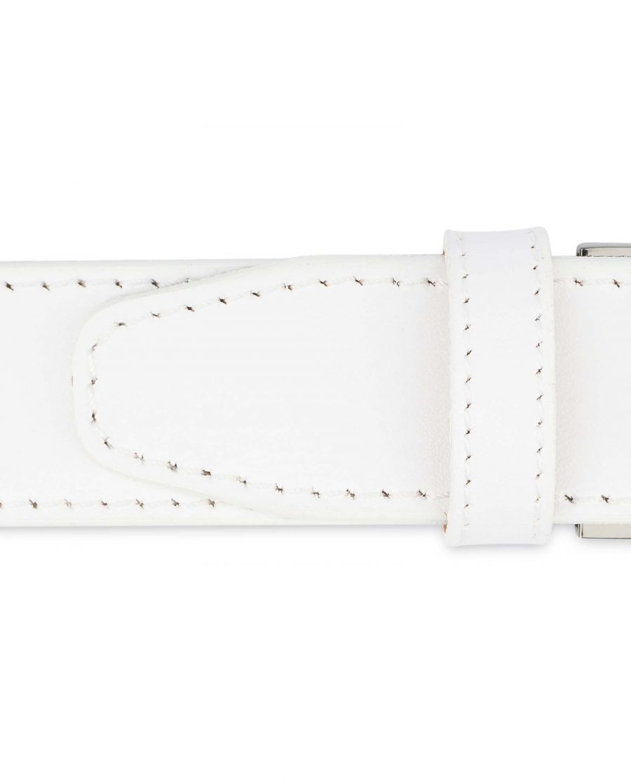 White-Leather-Belt-With-Black-Buckle-Stitched