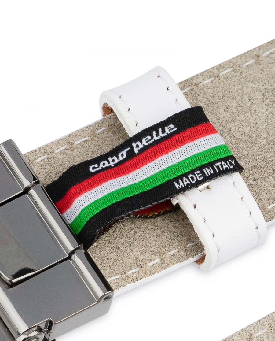 White-Leather-Belt-With-Black-Buckle-Woven-tag