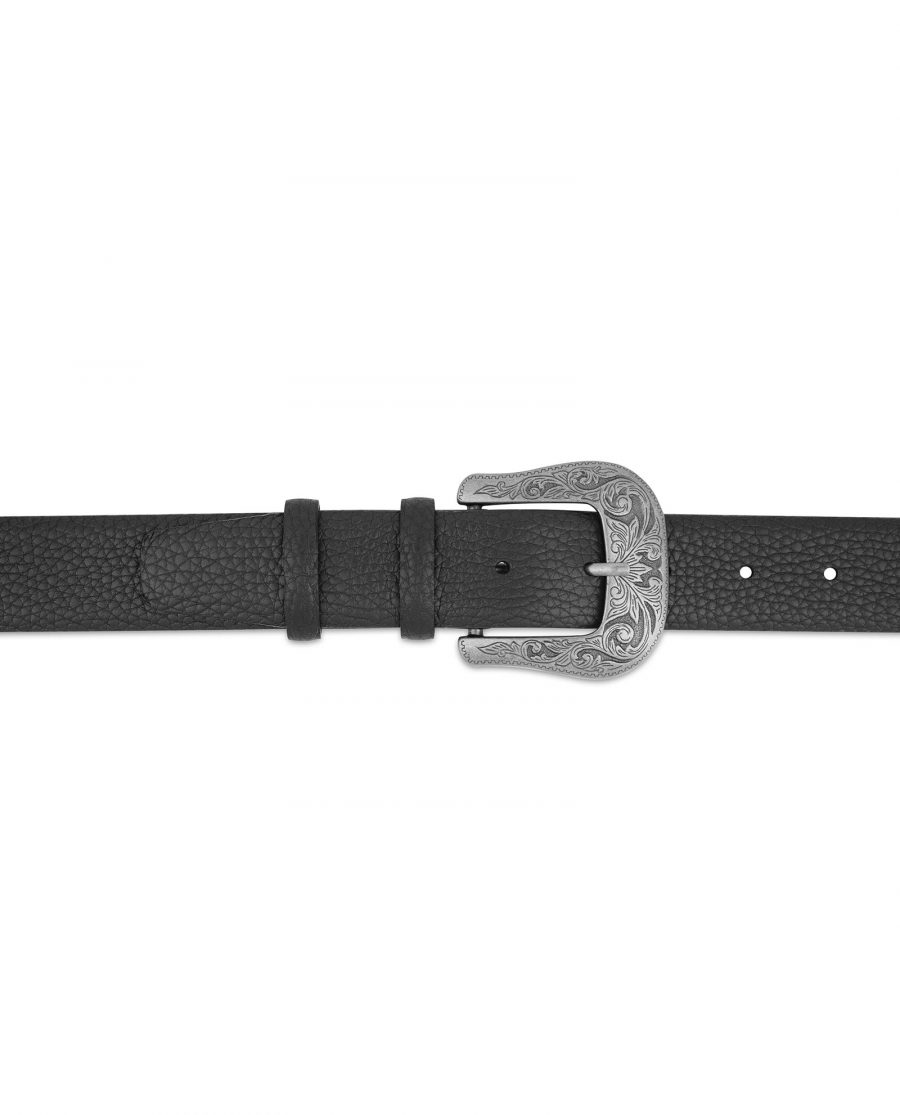 Cowboy Belt with Buckle Genuine Leather On jeans