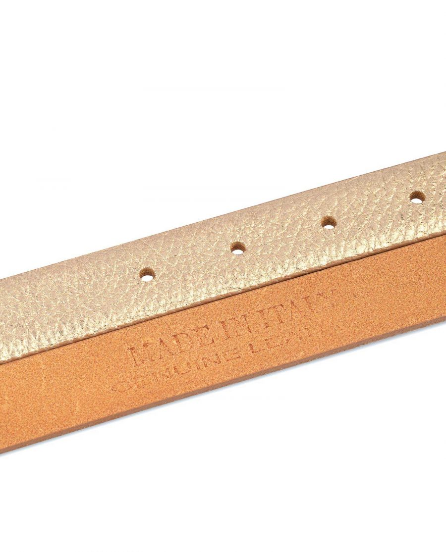 Western Rose Gold Belt With Gold Buckle Genuine leather