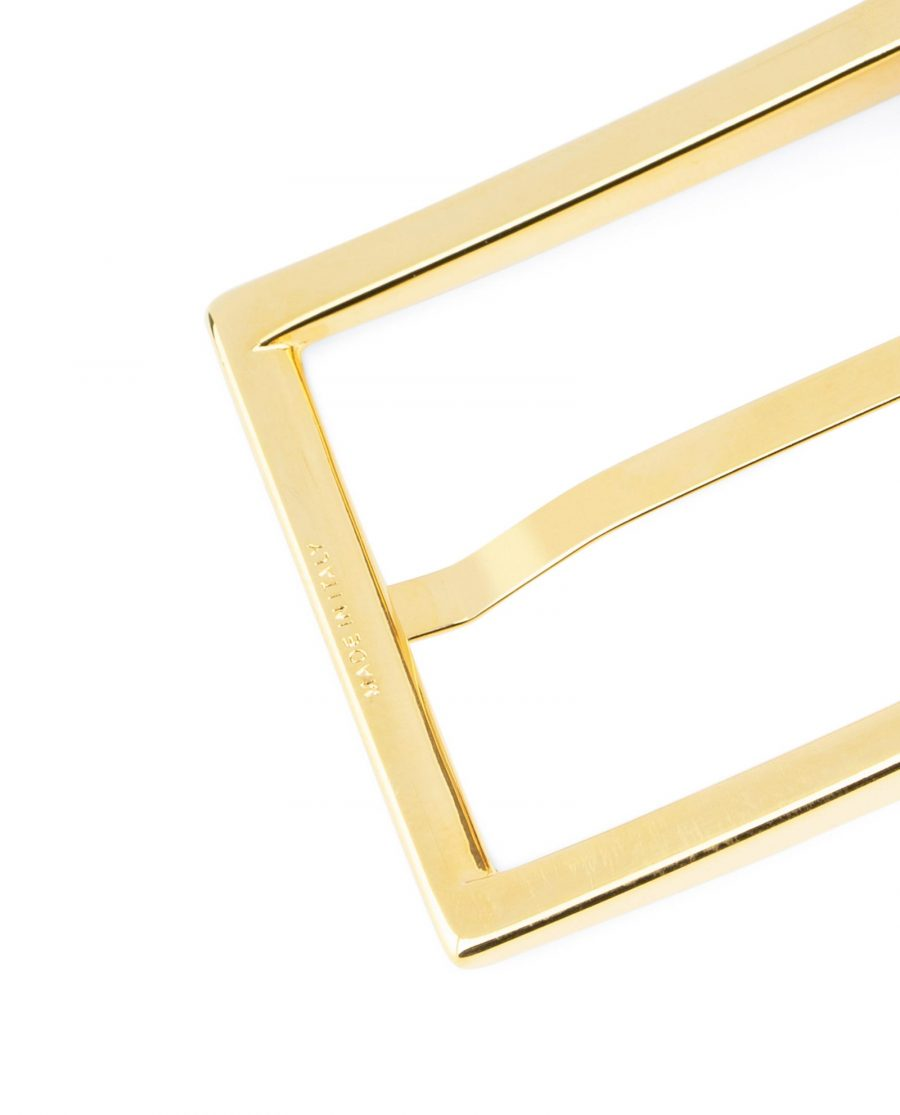 Black Belt With Gold Buckle For Men Made in Italy