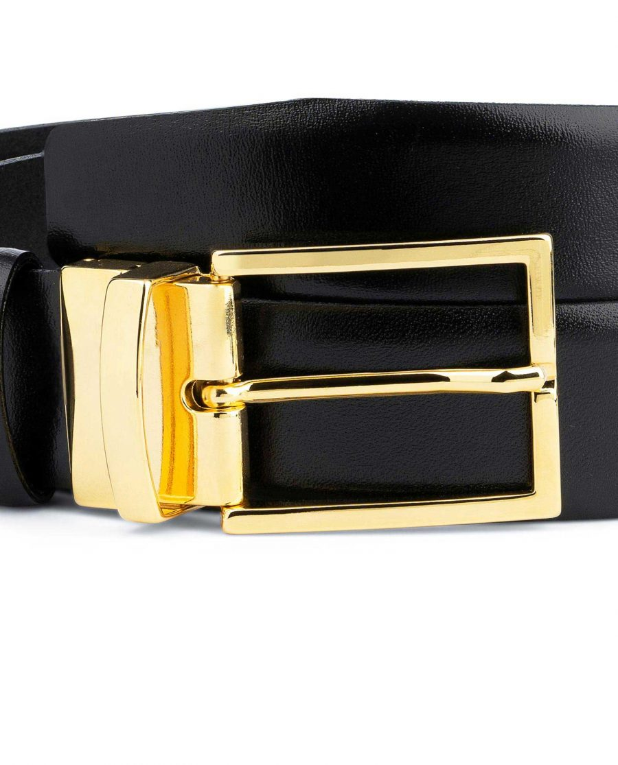 Black Belt With Gold Buckle For Men Quality