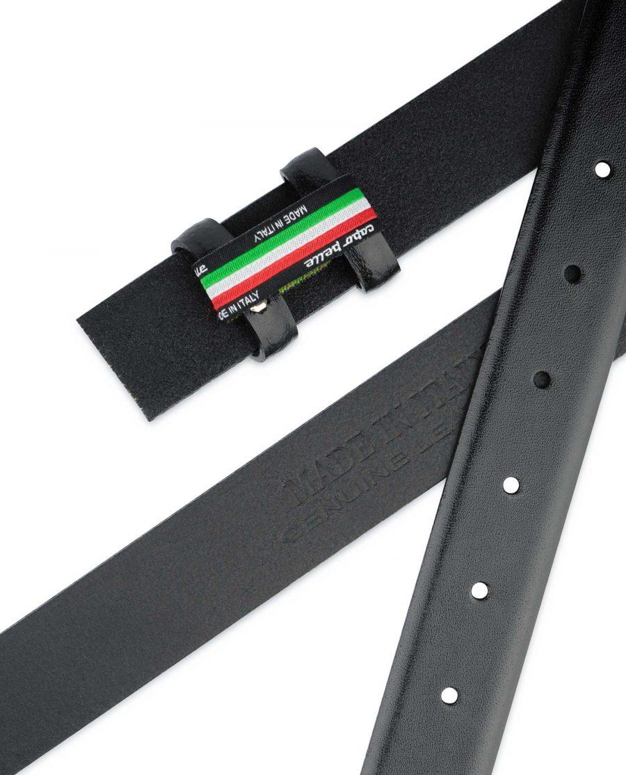 Black Mens Belt for Buckles 1 1 8 inch Genuine leather
