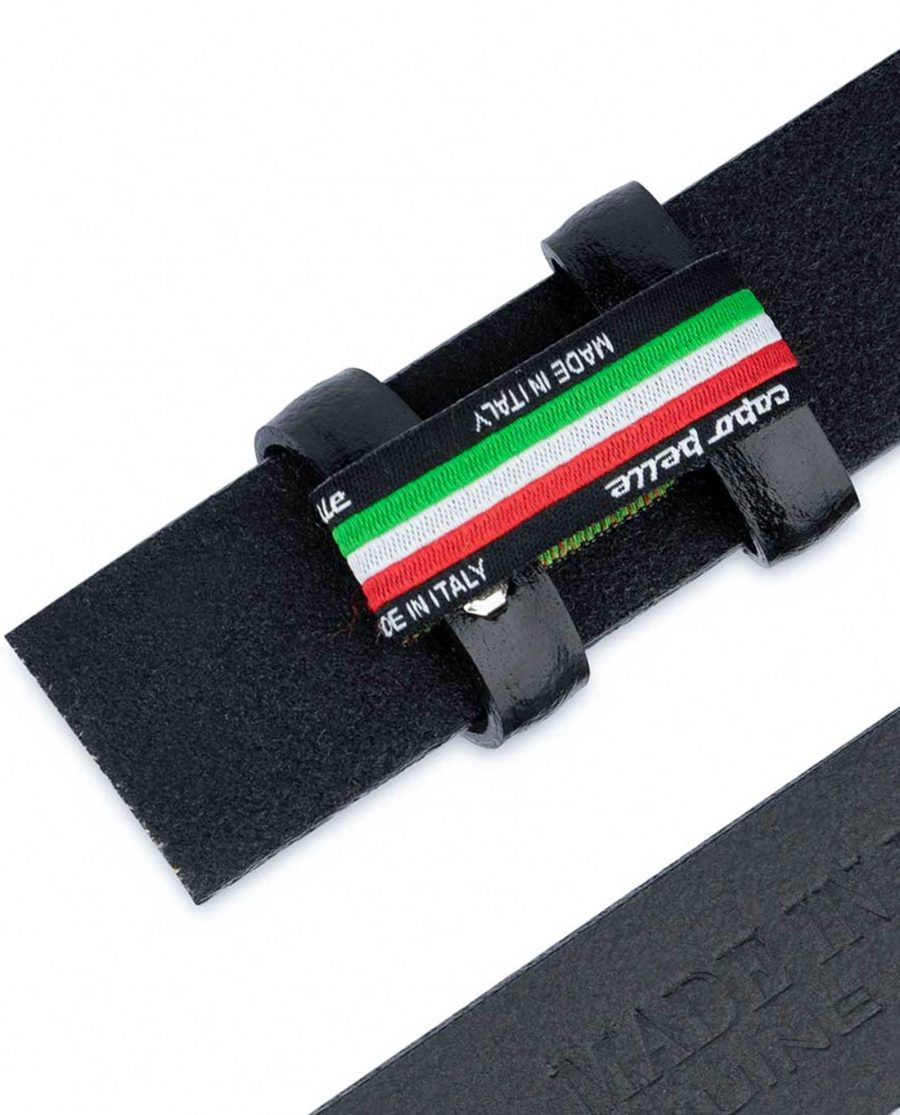 Black Mens Belt for Buckles 1 1 8 inch Without Dress