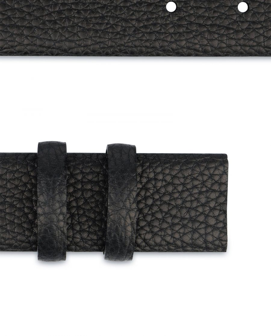 Black Mens Belt for Buckles Genuine Italian Leather