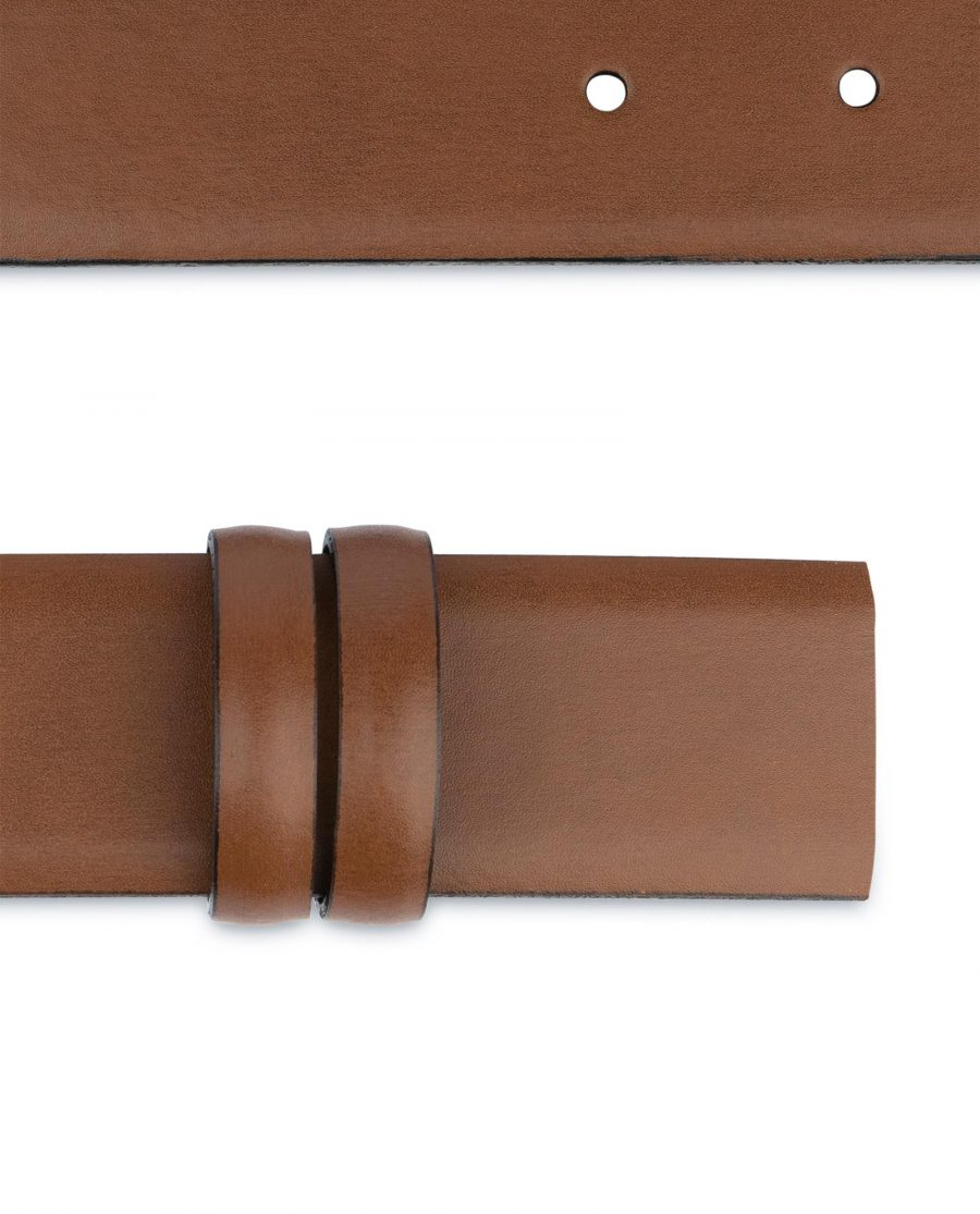 Brown Mens Belt for Buckles 1 3 8 inch Vegetable Tan