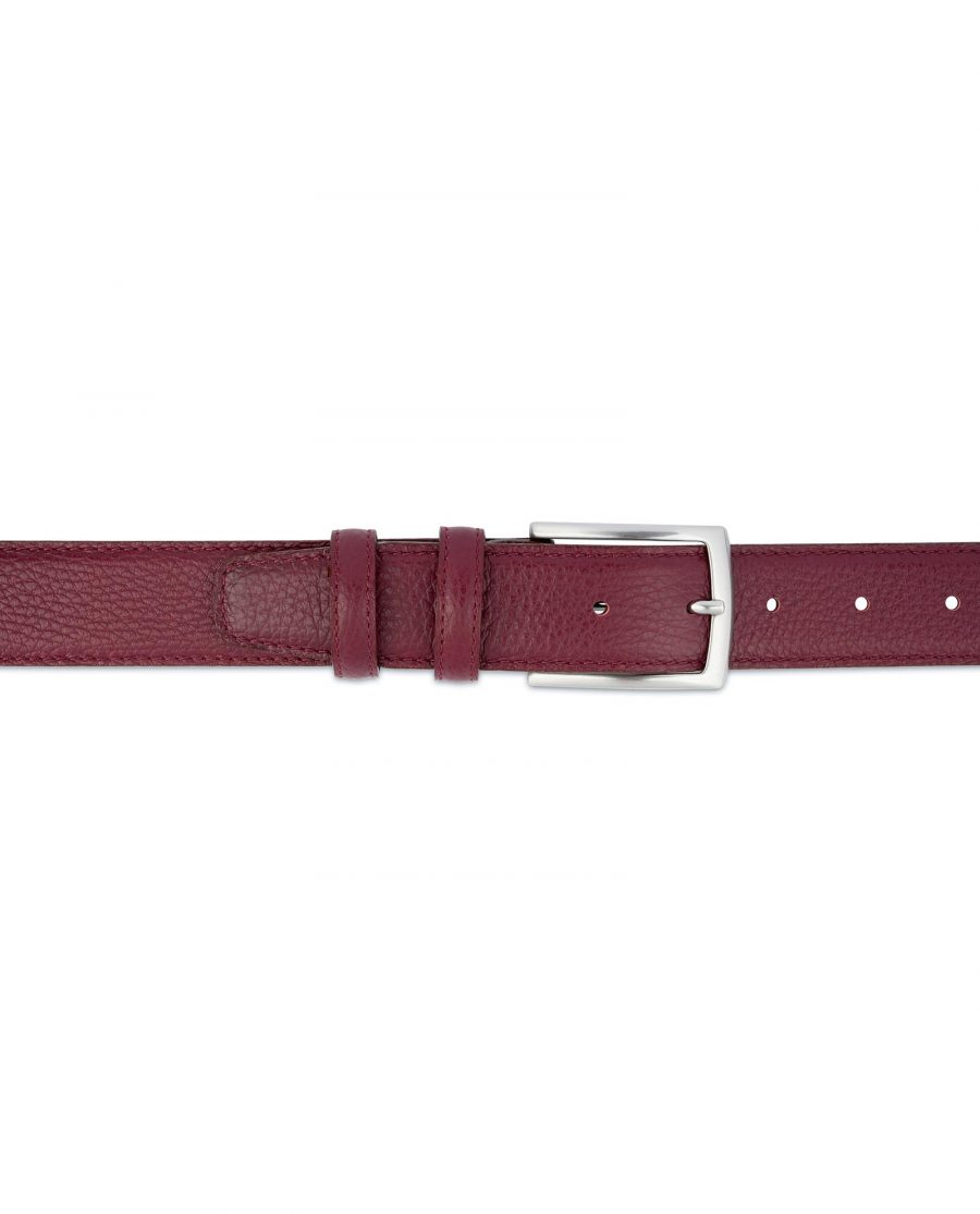 Burgundy Belt For Men Genuine Leather For jeans