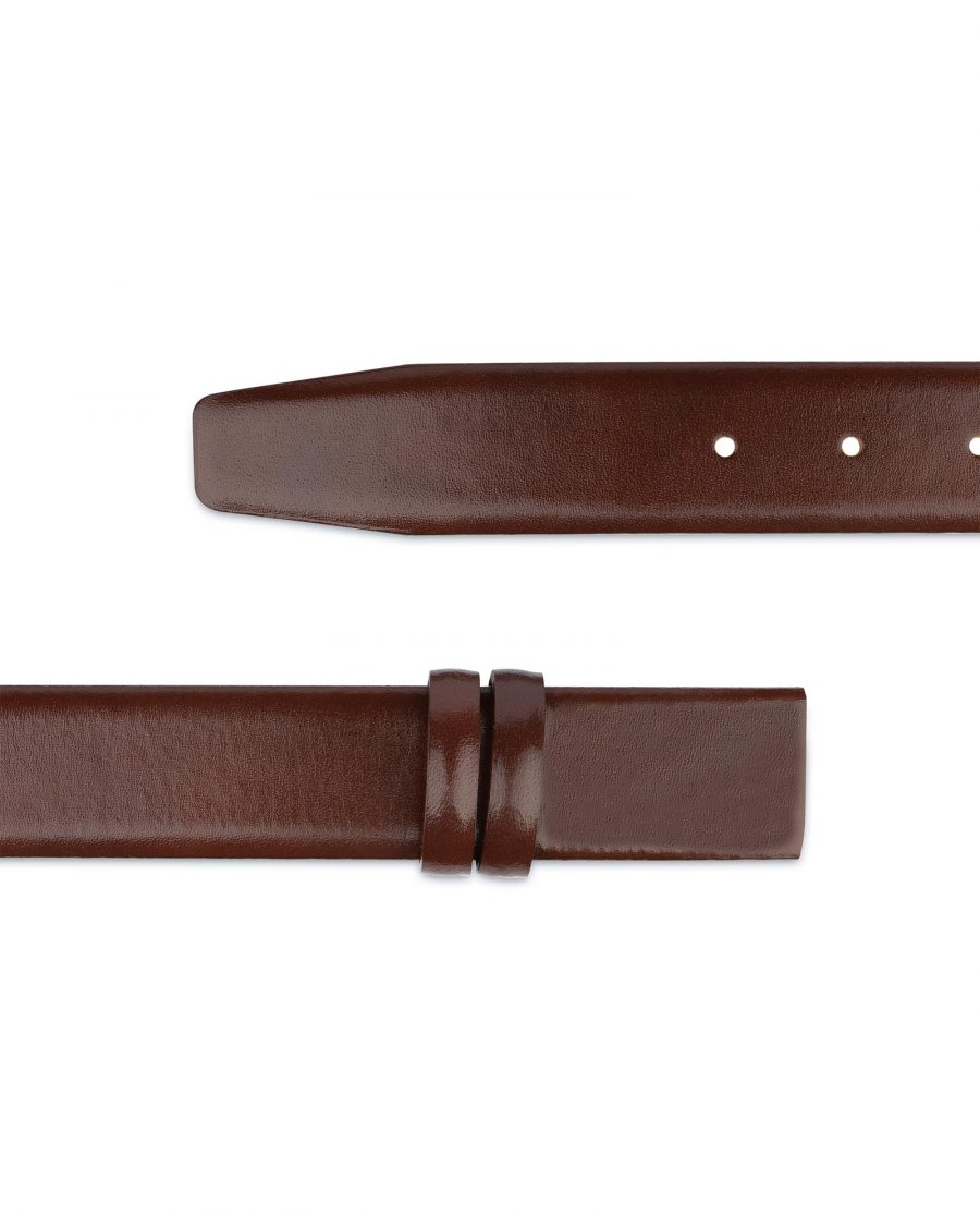 Cognac Leather Belt for Buckles 1 3 8 inch Brown smooth