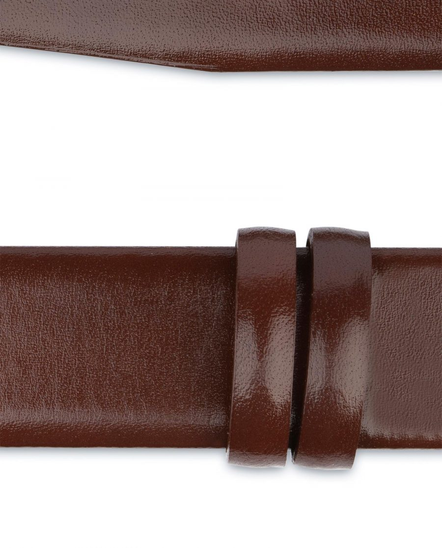 Cognac Leather Belt for Buckles 1 3 8 inch For suit