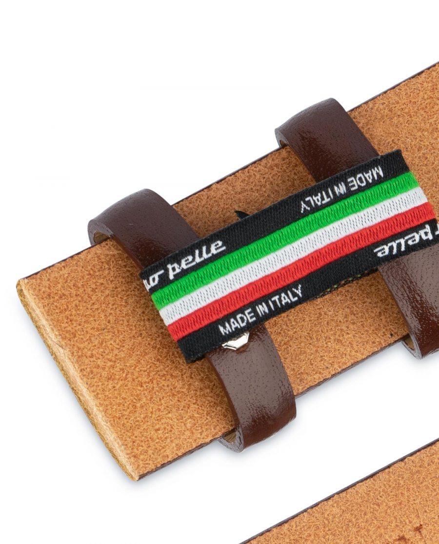 Cognac Leather Belt for Buckles 1 3 8 inch Handmade