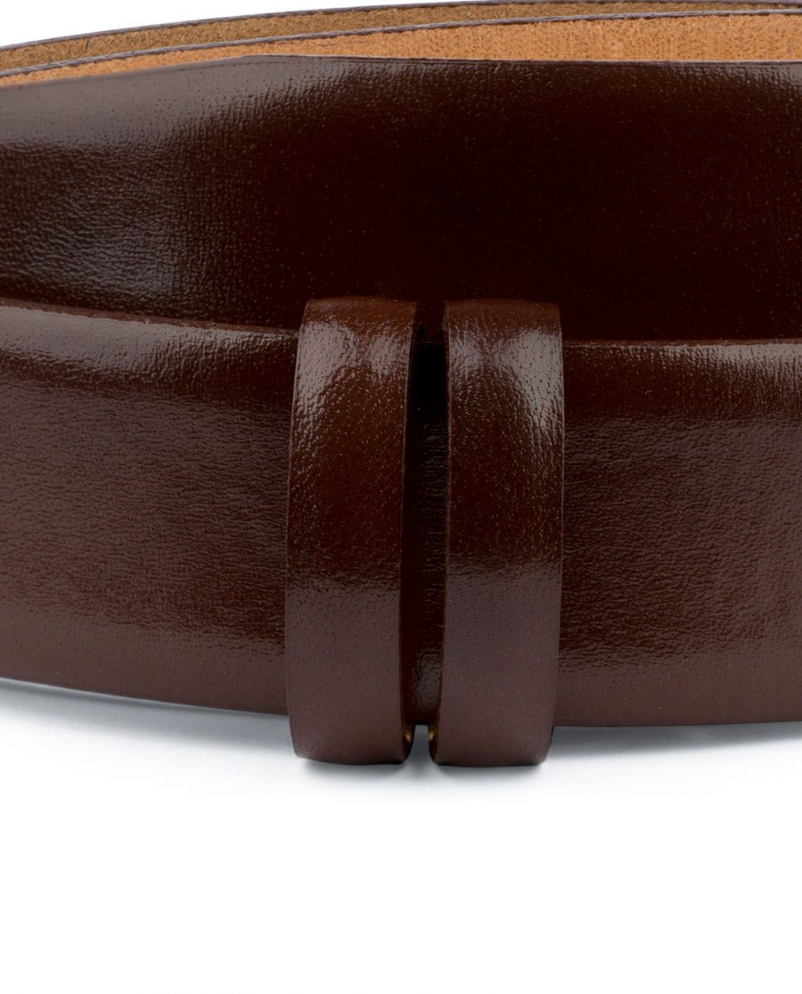 Cognac Leather Belt for Buckles 1 3 8 inch Mens Dress