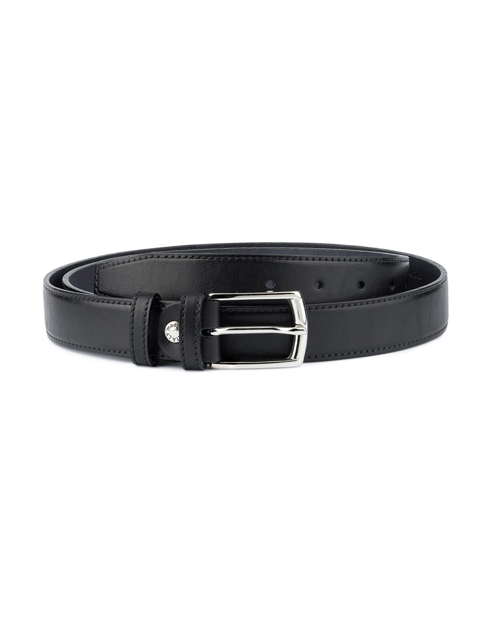 Stylish Black Studded Belt Italian Full Grain Leather