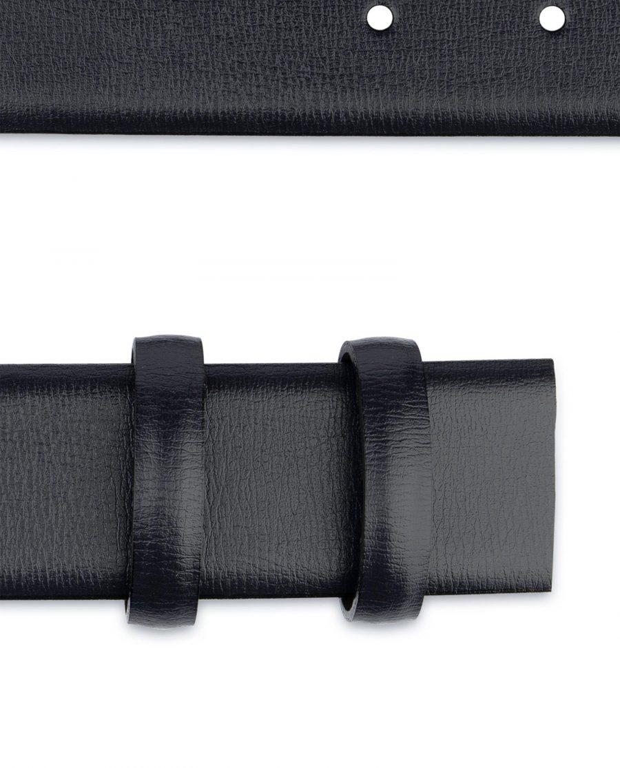 Mens Navy Belt for Buckles Genuine Leather Dress