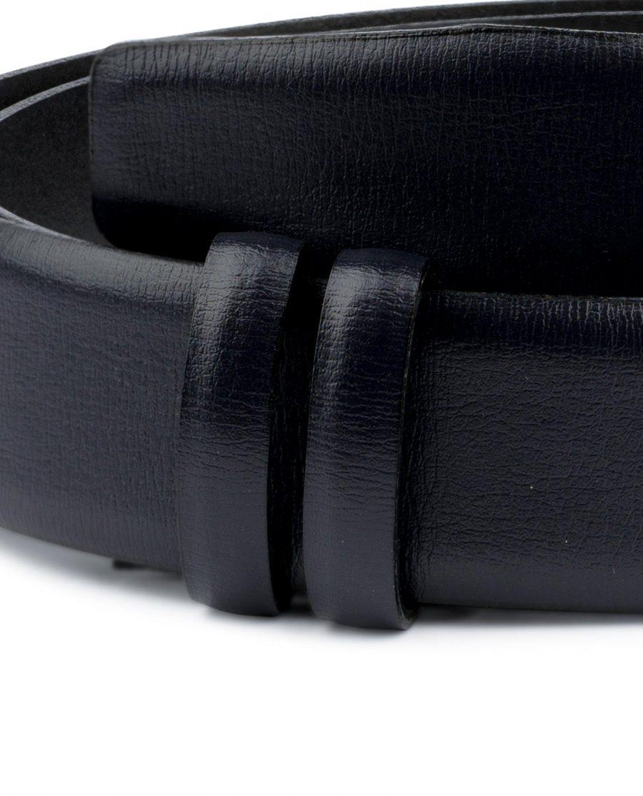 Mens Navy Belt for Buckles Genuine Leather Formal