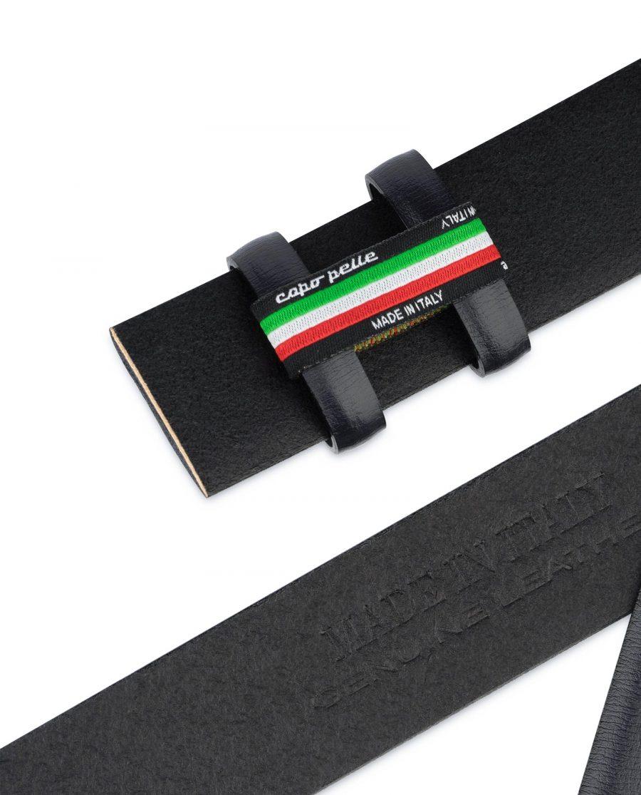 Mens Navy Belt for Buckles Genuine Leather Italian