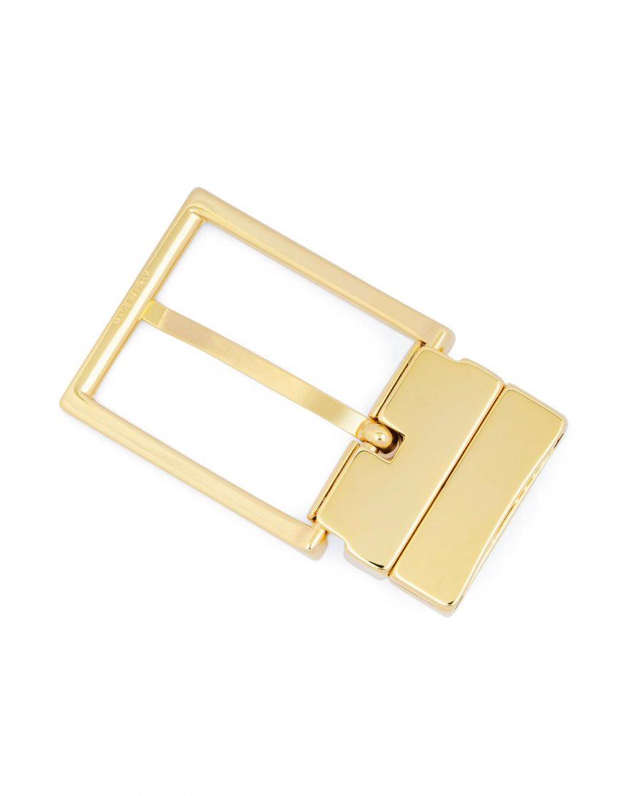 Reversible Gold Belt Buckle For Men 1 3 8 inch Blanks