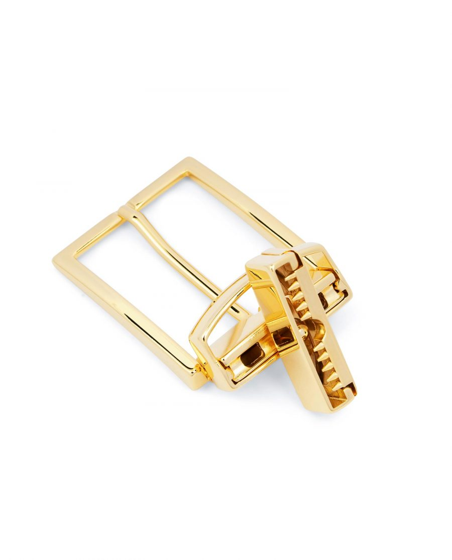 Reversible Gold Belt Buckle For Men 1 3 8 inch Clamp