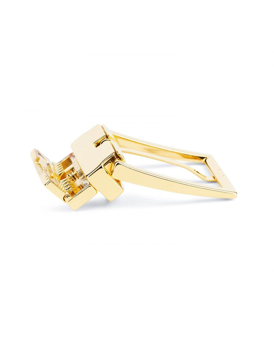 Reversible Gold Belt Buckle For Men 1 3 8 inch Clasp