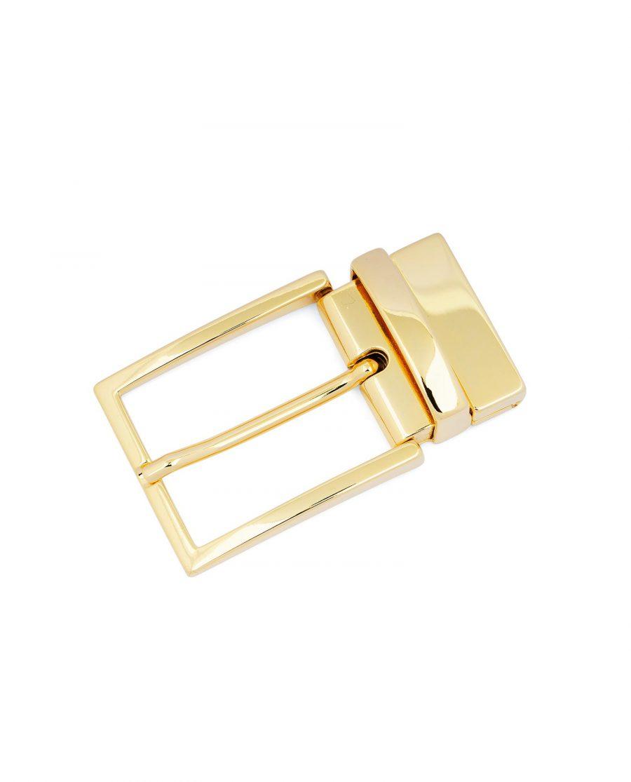 Reversible Gold Belt Buckle For Men 1 3 8 inch Italian