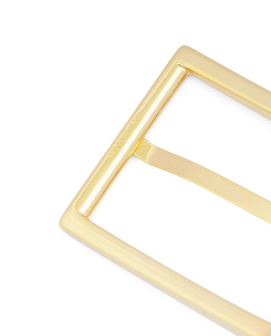 Reversible Gold Belt Buckle For Men 1 3 8 inch Made in Italy