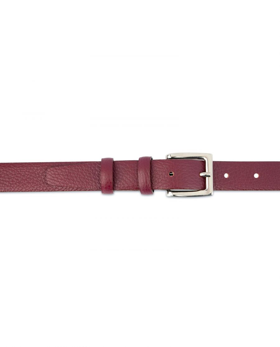 Womens Burgundy Belt For Dresses Ladies belts