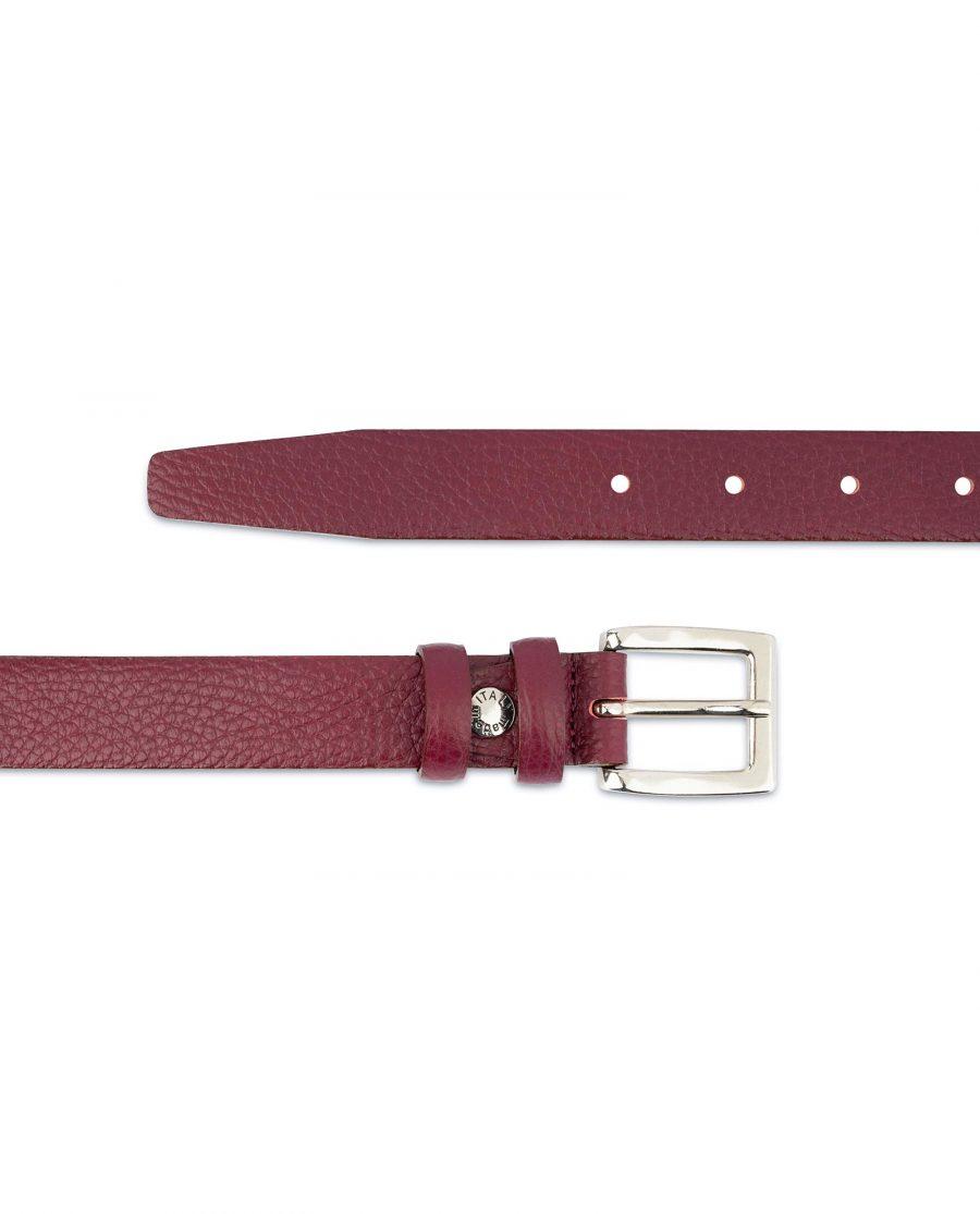 Womens Burgundy Belt For Dresses and Jeans
