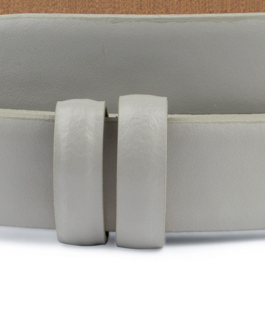 Grey Belt for Buckles Genuine leather 1 inch Replacement