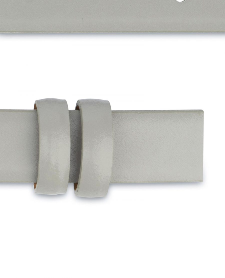 Grey Belt for Buckles Genuine leather 1 inch Smooth