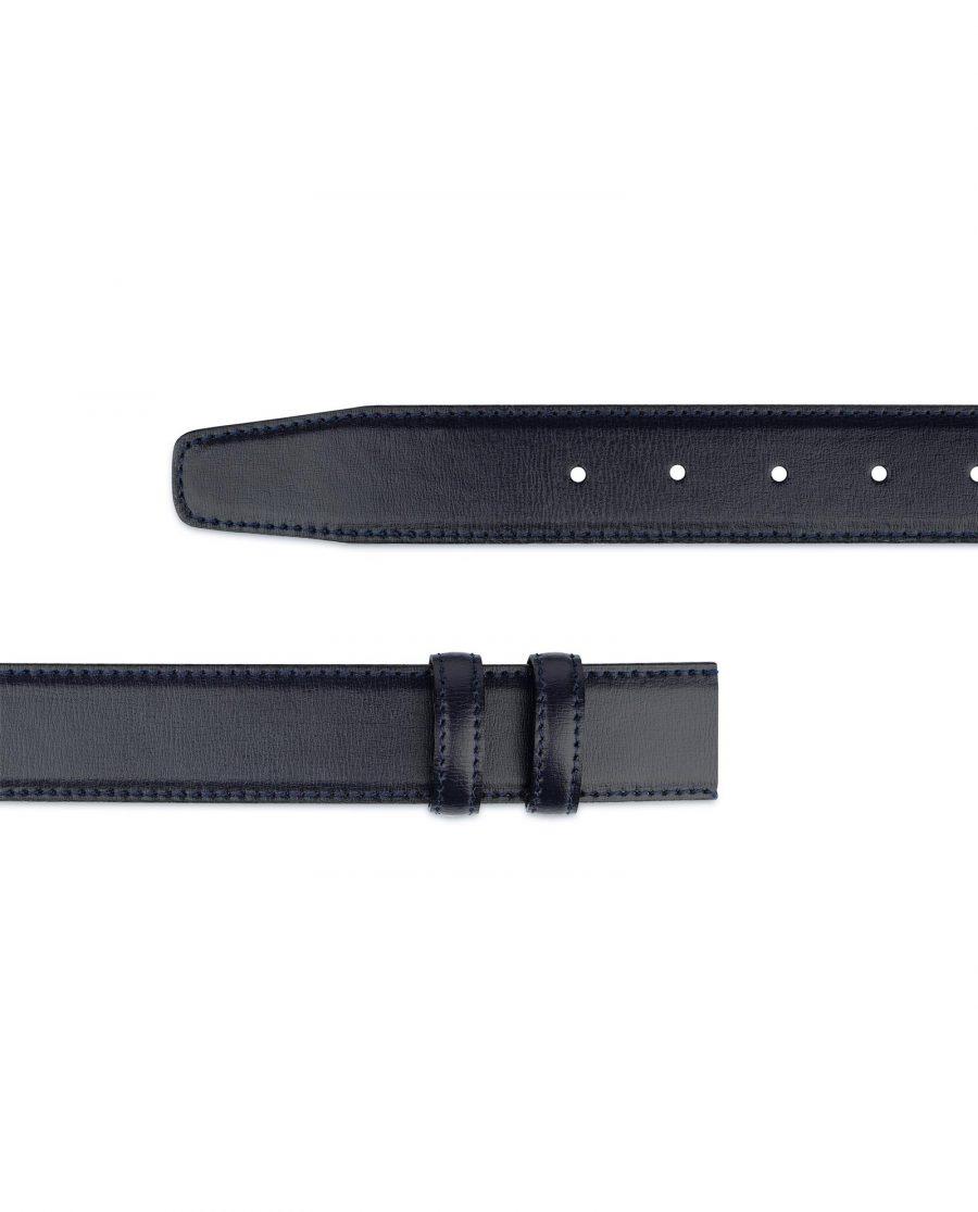 Navy Blue Mens Belt Without Buckle Genuine Leather Adjustable