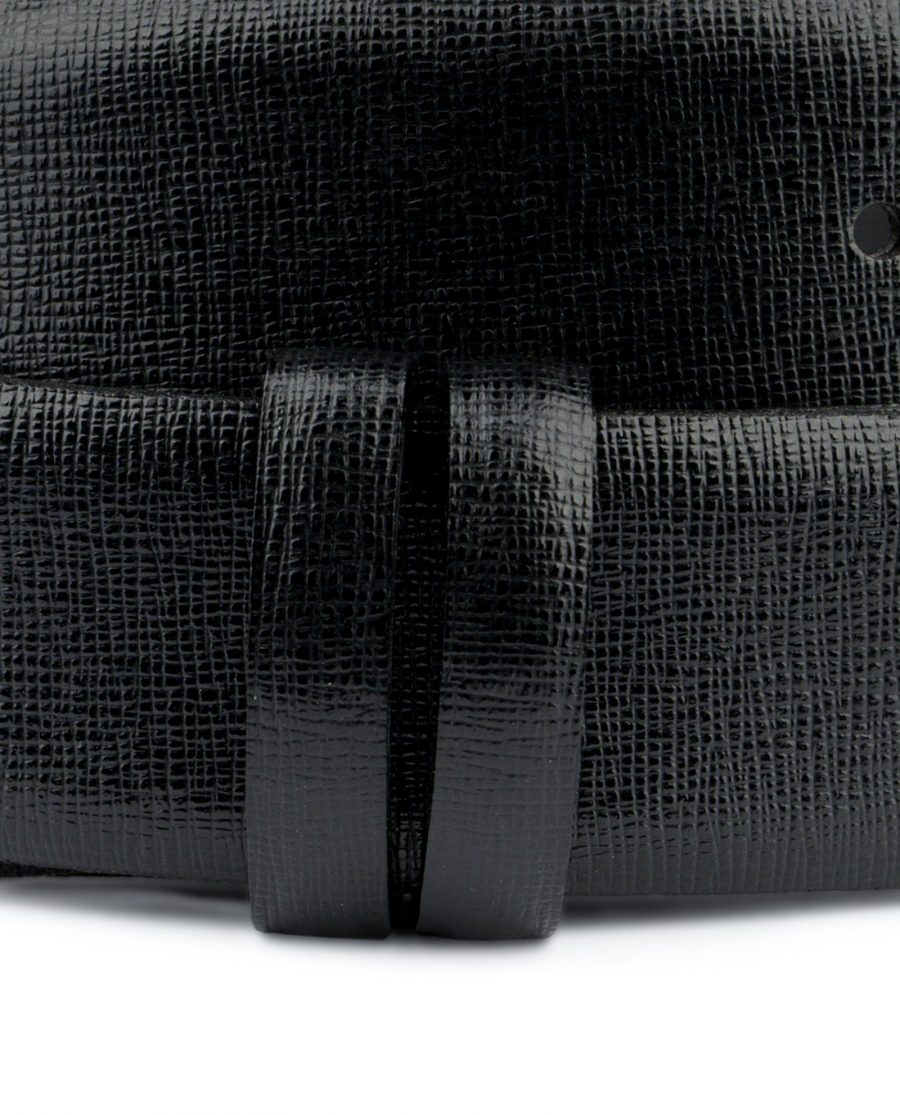 Saffiano Mens Belt Without Buckle Black 1 3 8 inch Genuine leather