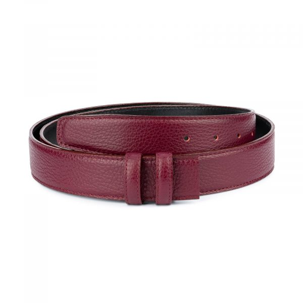 Burgundy Leather Strap for Belt Replacement 1
